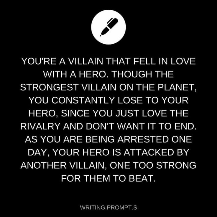 The vilian who fell in love with the Hero