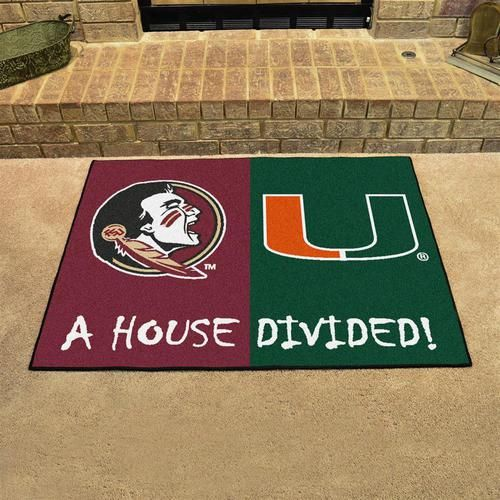 FSU Florida State University House Divided Rivalry Rug