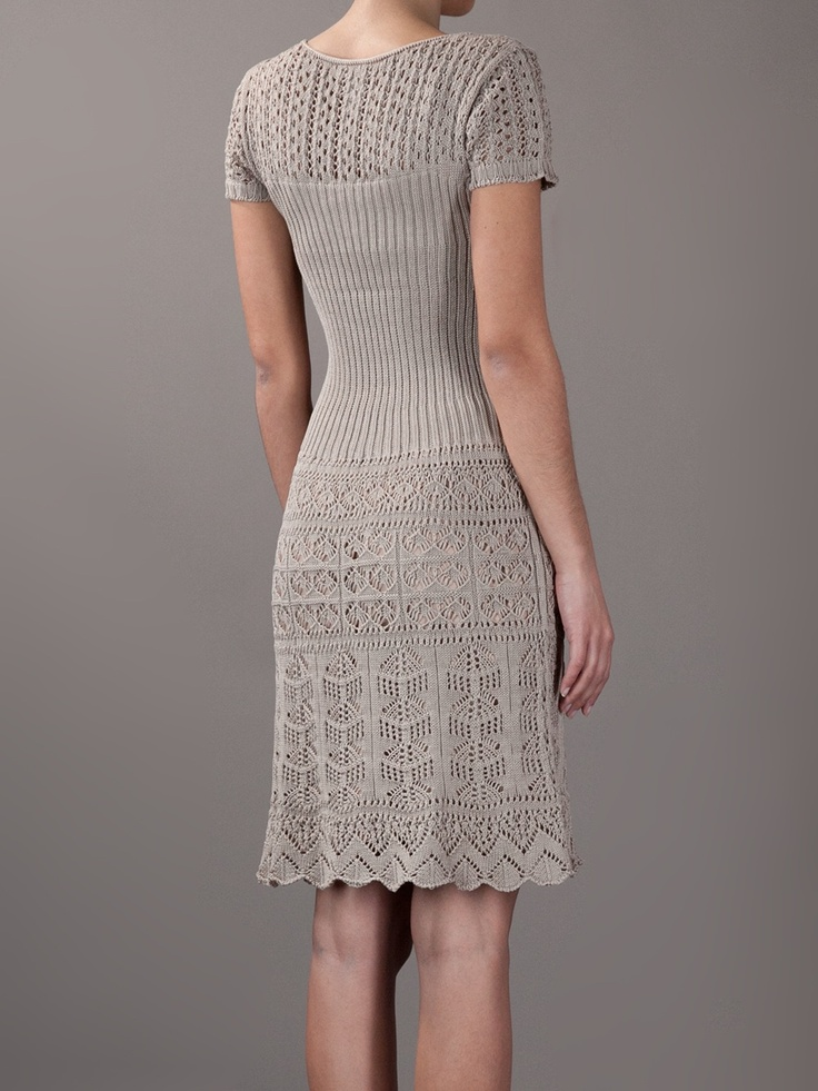 Philosophy Di Alberta Ferretti Crochet And Knit Dress - Spinnaker 141 - farfetch.com