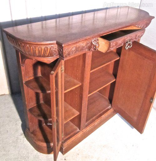 A Gothic Carved Oak Hall Cupboard By Gillows 1870 - Antiques Atlas