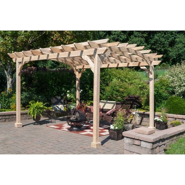 Overstock Com Online Shopping Bedding Furniture Electronics Jewelry Clothing More In 2020 Wood Pergola Kits Pergola Wood Pergola