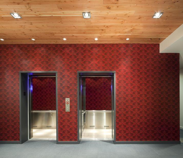Elevators and Hudson wallpaper at The Hudson #HudsonDistrict