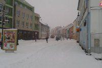 Banská Bystrica - Dolná ulica v januári 2015