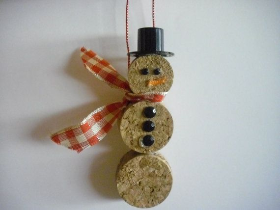 Snowman Christmas Ornament by WineCountryCrafters on Etsy