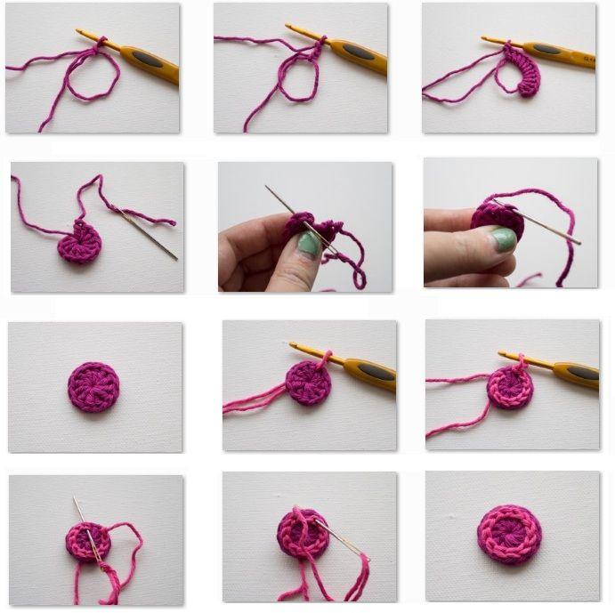 Como hacer botones a crochet http - Como hacer cuadros con botones ...