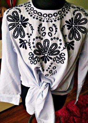 Kup mój przedmiot na #vintedpl http://www.vinted.pl/damska-odziez/bluzki-z-3-slash-4-rekawami/17351949-nowa-modna-bluzka-wiazana-ala-zara-rozl-xl