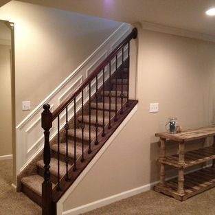 Open Up Wall On Stairs In Basement Home Construction