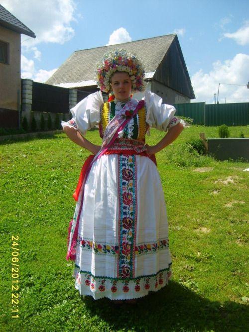 Kroje a tak Bride from village Liptovské Sliače, Liptov region, Central Slovakia.
