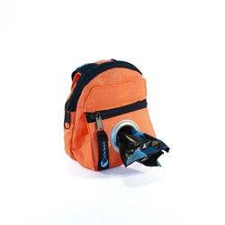 POOCH POUCH - ORANGE Backpack Dispenser & Biodegradable Waste Pick-Up Bags