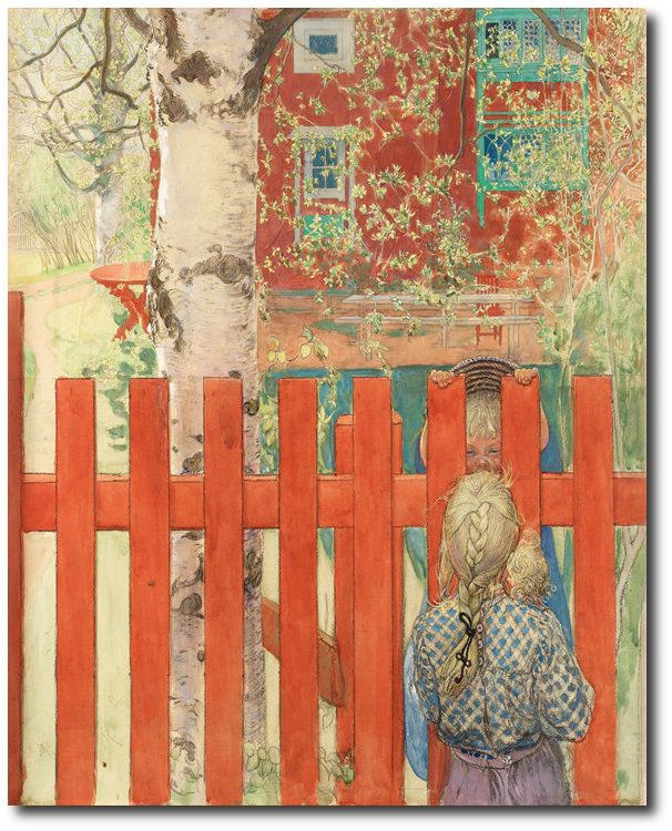 Larsson Carl By The Fence Canvas