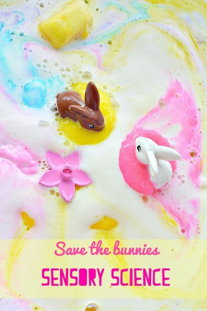 Bunny Rescue : Sensory Science for Kids. Use chemistry to save the bunnies stuck in pink muck