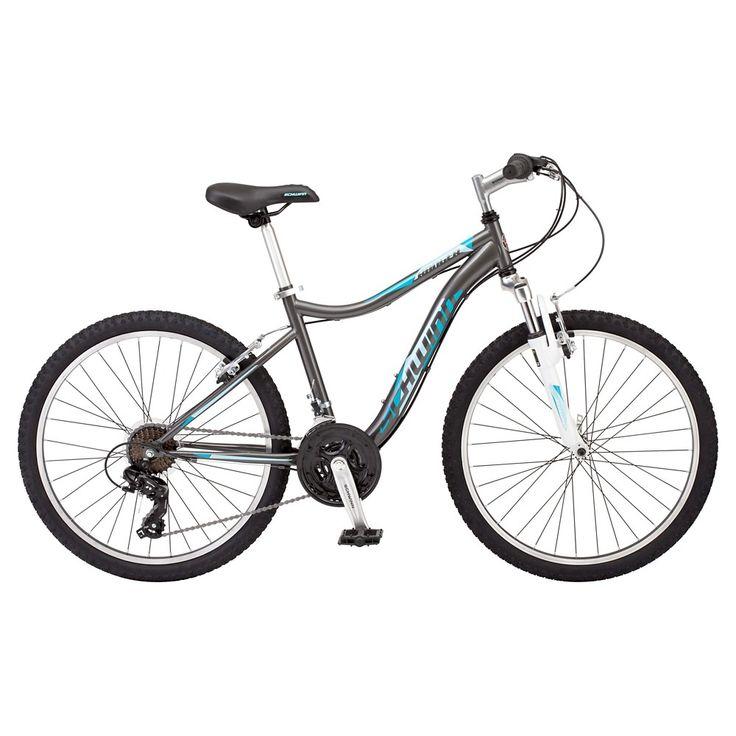 Schwinn Girls' Ranger 24 Mountain Bike- Gray/Teal (Gray/Blue)