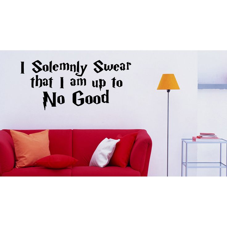 I Solemnly Swear I Am Up To No Good Wall Art Sticker Decal