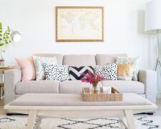 love the couch, pillows, and map