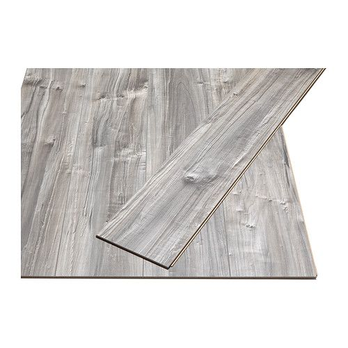 PRÄRIE Laminated flooring IKEA Laminated surface; a hardwearing floor, suitable for use in any area of the home except wet rooms.  Price works out to $1.67 sf.