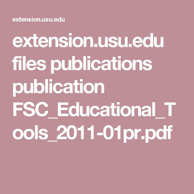 extension.usu.edu files publications publication FSC_Educational_Tools_2011-01pr.pdf