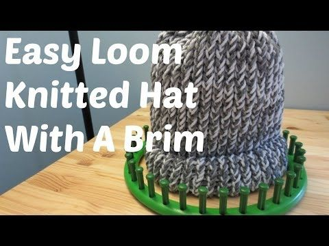Easy Loom Knitted Hat With A Brim - http://www.knittingstory.eu/easy-loom-knitted-hat-with-a-brim/