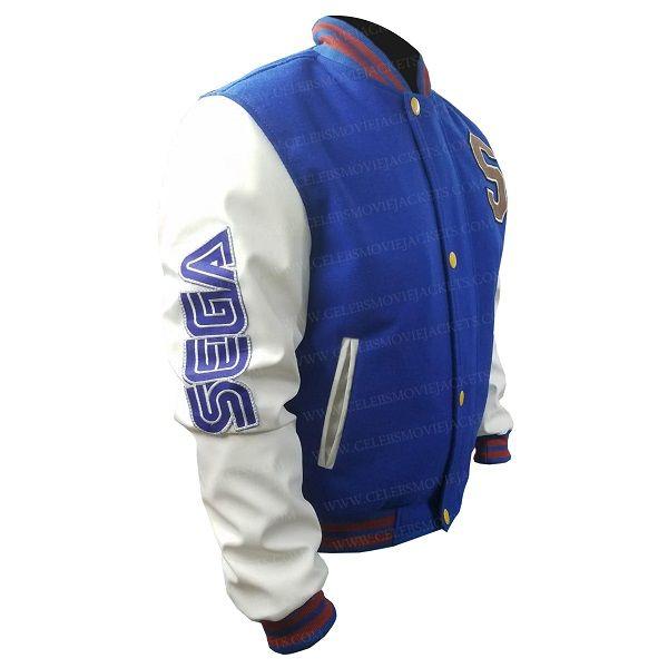 Sonic The Hedgehog Varsity Jacket In 2020 Jackets White Bomber Jacket Varsity Jacket