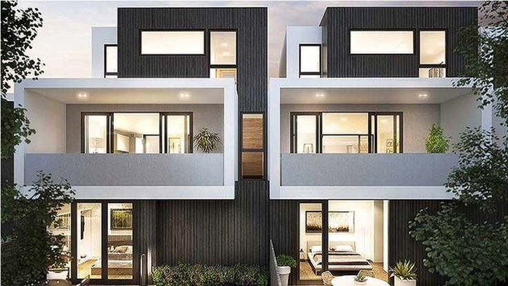 Building your dream home with the multi unit builders for Modern townhouse exterior