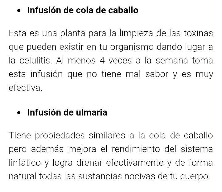 Infusión de cola de caballo y ulmania para eliminar celulitis