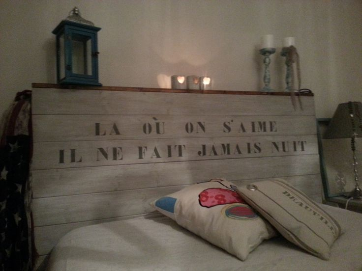 16 best images about id es pour la maison on pinterest bureaus x and sans - Tete de lit maison de la literie ...