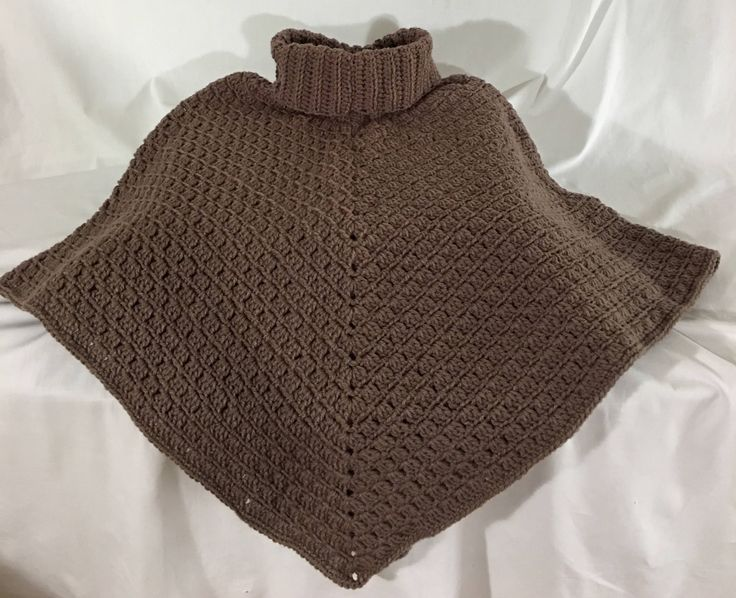 A personal favorite from my Etsy shop https://www.etsy.com/ca/listing/525172188/ladies-crochet-pull-over-cowl-poncho