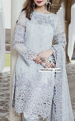 Light Blue Chiffon Suit | Buy Embroyal Luxury Pakistani Dresses and Clothing online in USA, UK