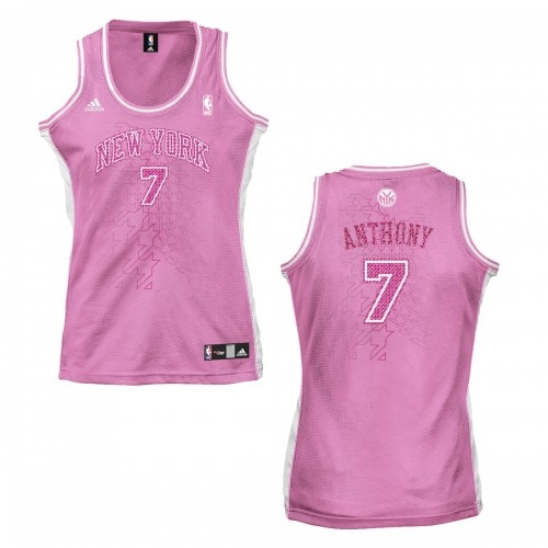 adidas 2011 Womens Knicks Carmelo Anthony Replica Jersey [Pink]