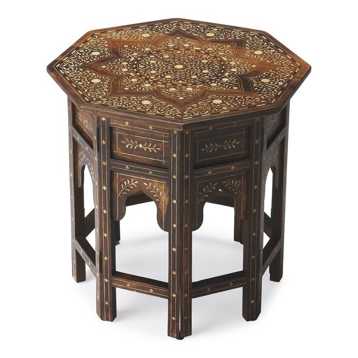 Butler Wood & Bone Inlay Accent Table by Butler Specialty Company 3596 – The Rustic Furniture Store