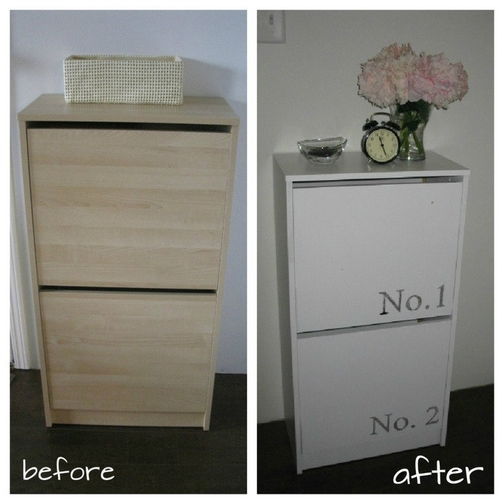 creating domestic bliss:  Ikea Bissa Cabinet makeover using WAX PAPER transfers|