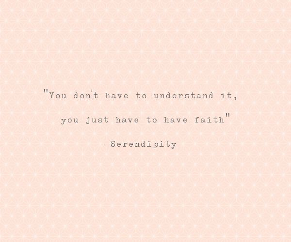 God had been teaching me this day by day since I got saved. Faith is not understanding.... it's truth. That is why it sets you free <3