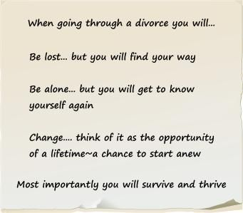 Surviving and thriving after divorce
