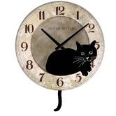 Verichron metal Dalí Reloj de pared | Wayfair: Design Room, Kitty Cat, Ashton Sutton, Wall Clocks, Sutton Cat, Cat Stuff, Black Cat, Cat Clocks, Ticking Tock