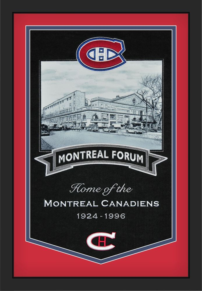 Montreal Canadiens Montreal Forum NHL Framed Stadium Banner