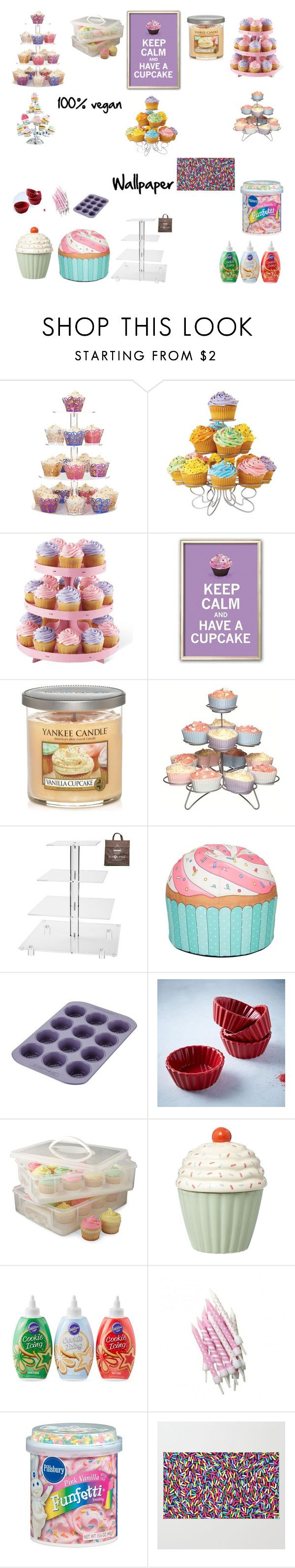"""""""The cupcake room"""" by mhoman ❤ liked on Polyvore featuring interior, interiors, interior design, home, home decor, interior decorating, Yankee Candle, Sweetly Does it, Woouf! and Farberware"""