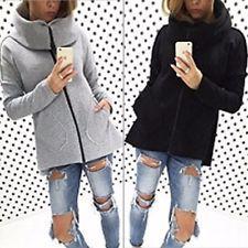 nuovo elegante Donne inverno caldo Felpa con cappuccio Giacca cappotto Outwear