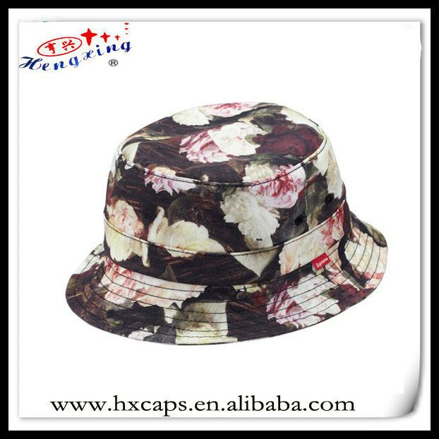 Custom floral cool bucket hats for sale $1.5~$2.9