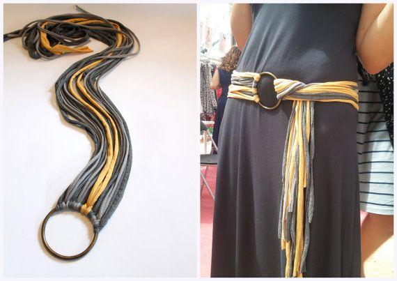 Fabric Belt Autumn Accessories  Cotton Straps Belt by TikeStudio