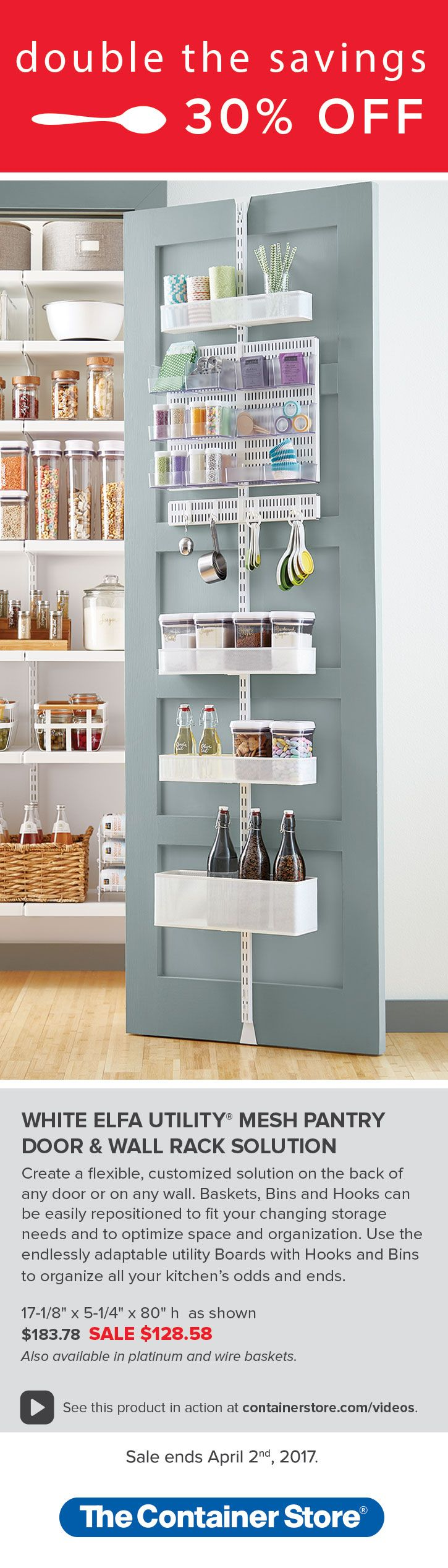 From The Container Store · Maximize Your Pantry Space By Utilizing The Back  Of Your Door! Our Innovative, Top