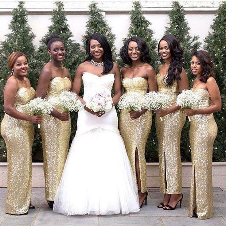 Sequin Bridesmaid Dress,Long Floor Length Bridesmaid Gown,Sequined Bridesmaid