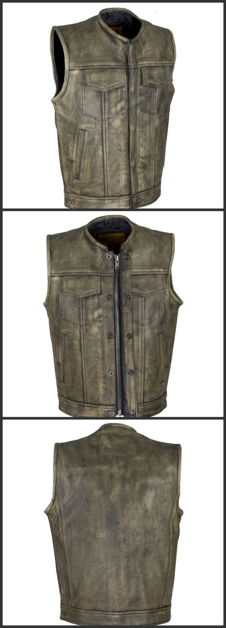 Latest edition in men's vest SOA Style Distressed Brown Biker Vest for Men now in SK Fashion Store. This newly outfit is best suits for summer holidays. Collect your one SOA Club Style Biker Motorcycle Leather Vest.