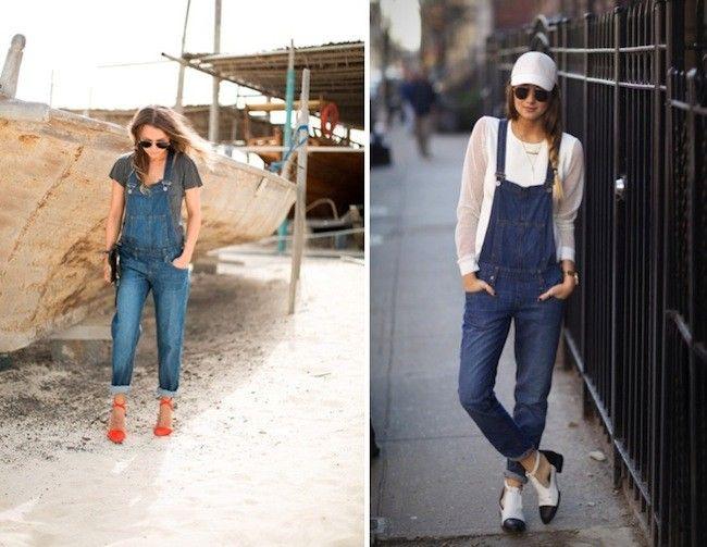 Distinctas formas de usar el jardinero de jean!!