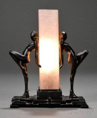 Frankart Table Lamp Glass and