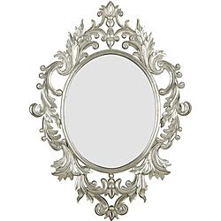 Add a functional accent to any room in your home with this gorgeous framed wall mirror. This beveled oval wall mirror features intricate detailing on the frame, complete with a majestic gold leaf fini