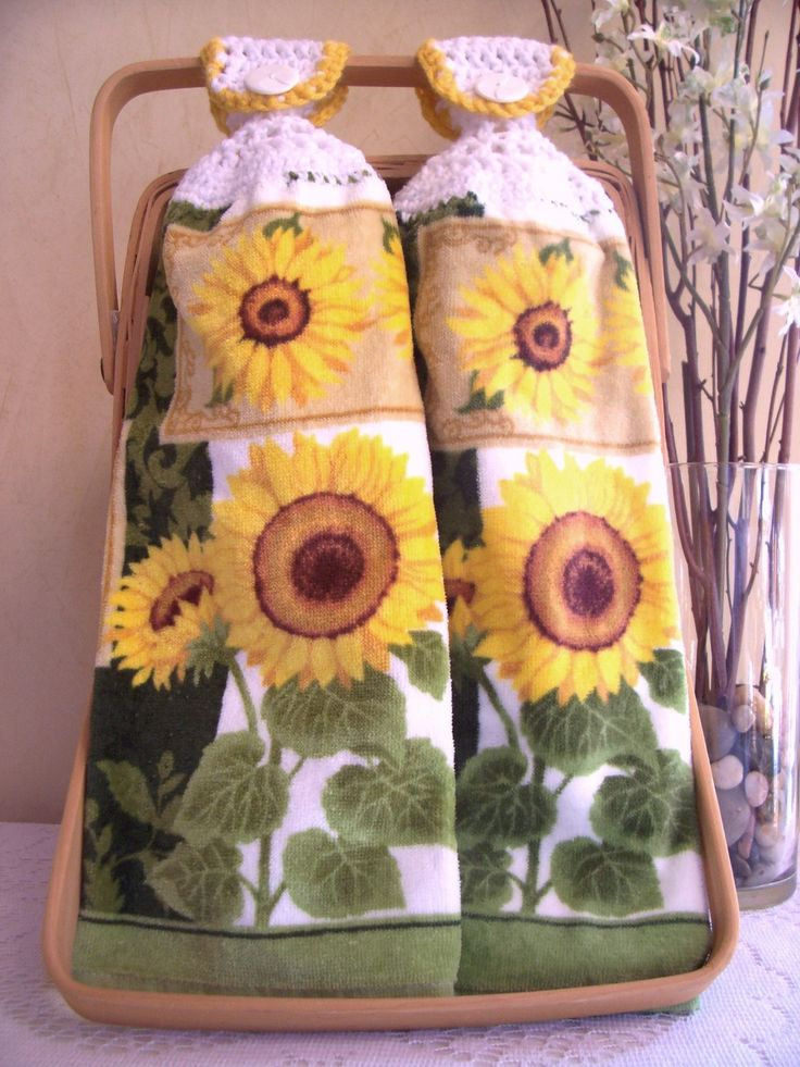 Sunflower Kitchen Stuff | Sunflower Hanging Kitchen Hand Towels By  Pattispotpourri On Etsy
