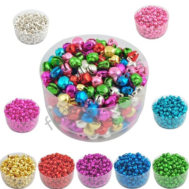 Sale 6MM 100 pcs/lot Loose Beads Small Jingle Bells Christmas Decoration Gift Free Shipping Colorful/Mix Color