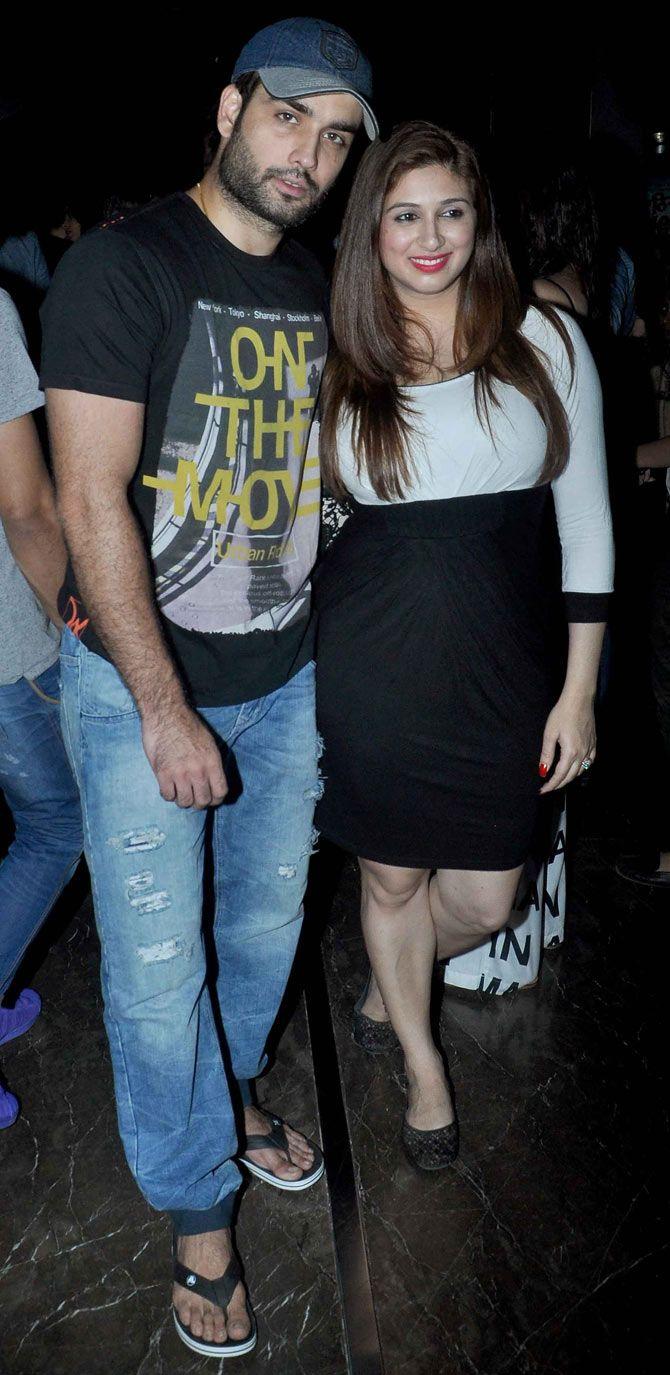 Vivian Dsena and Vahbbiz Dorabjee at the screening of 'Meeruthiya Gangsters'…