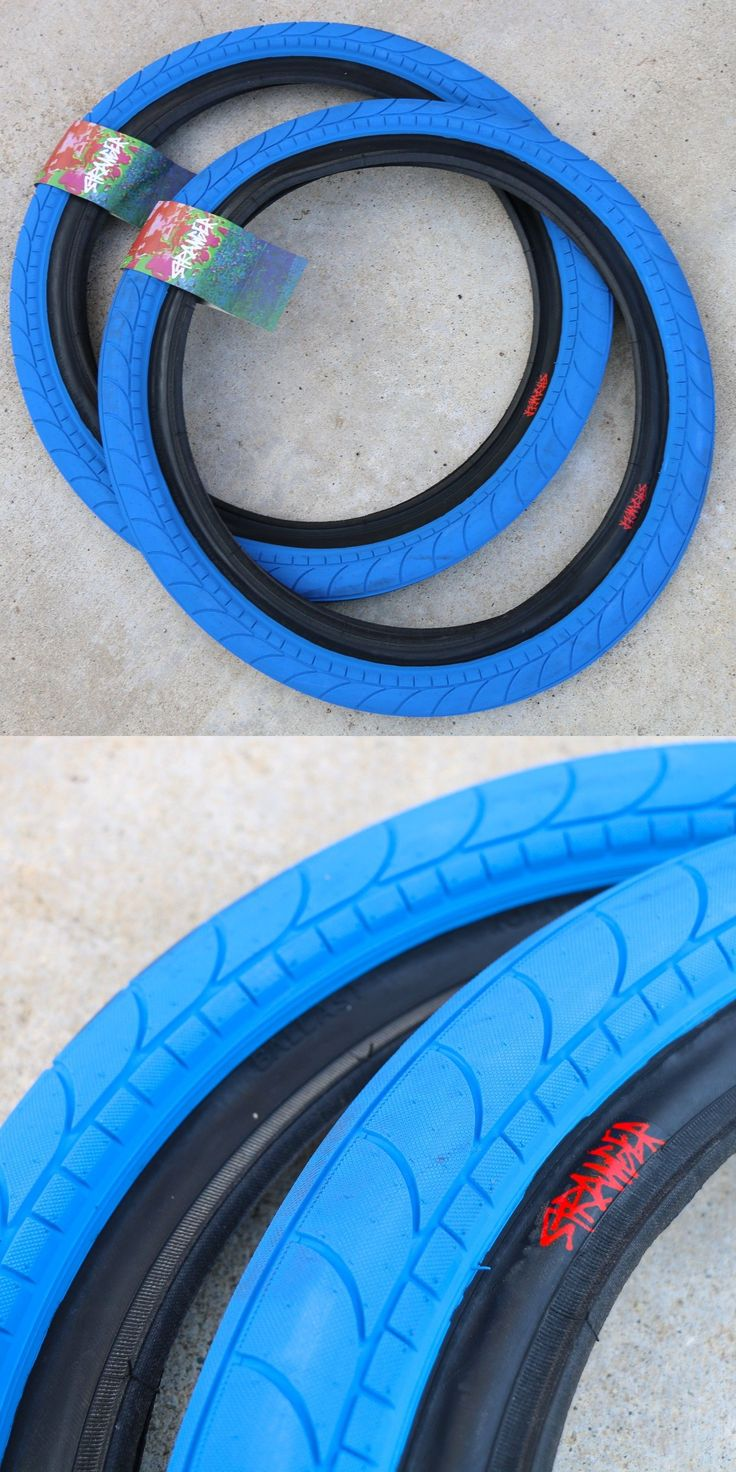 Tires 177828: Pair Of Stranger Bmx Bike Ballast Blue 20 X 2.45 Tires Primo Cult Sunday -> BUY IT NOW ONLY: $53.95 on eBay!