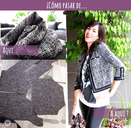 Chaqueta de Tweed tipo chanel #DIY