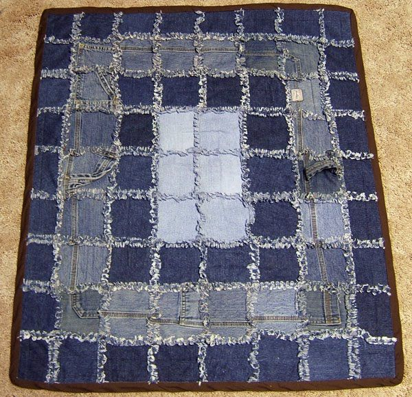1000+ Images About Blue Jean Rag Quilt On Pinterest